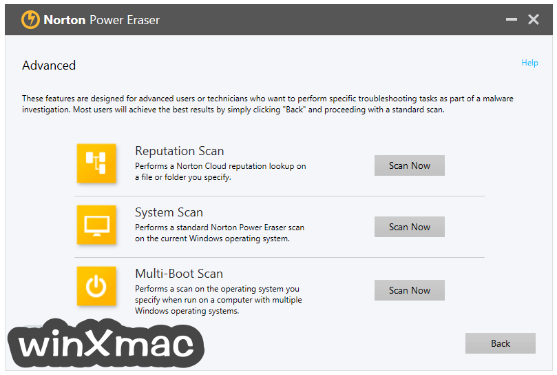 Norton Power Eraser Screenshot 3