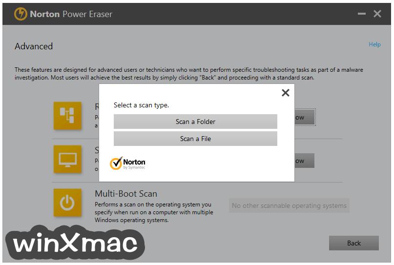 Norton Power Eraser Screenshot 4