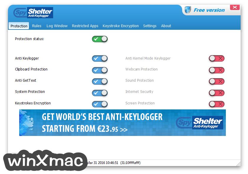 SpyShelter Anti-Keylogger Premium Screenshot 1