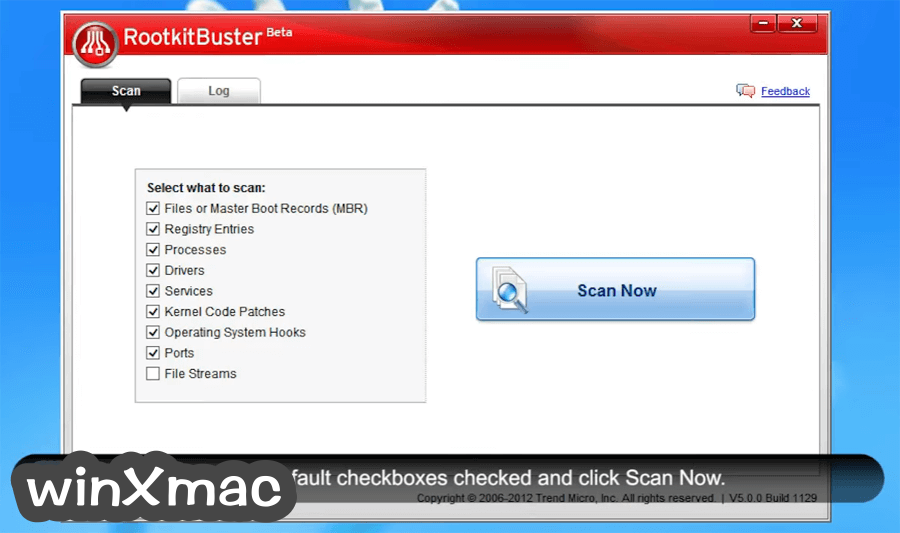 Trend Micro RootkitBuster (32-bit) Screenshot 1