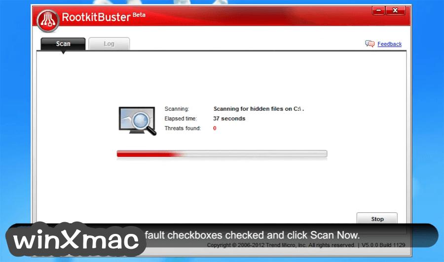 Trend Micro RootkitBuster (32-bit) Screenshot 2