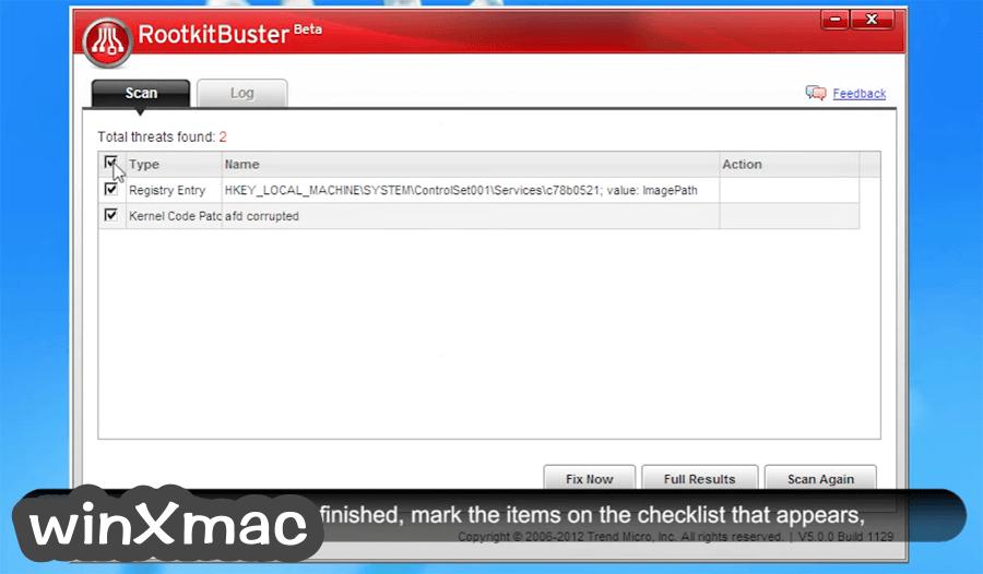 Trend Micro RootkitBuster (32-bit) Screenshot 3