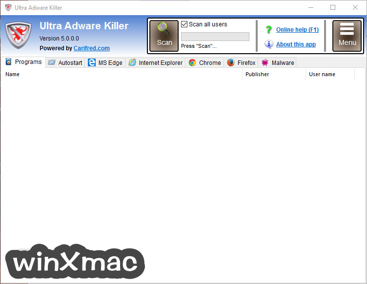 Ultra Adware Killer Screenshot 1
