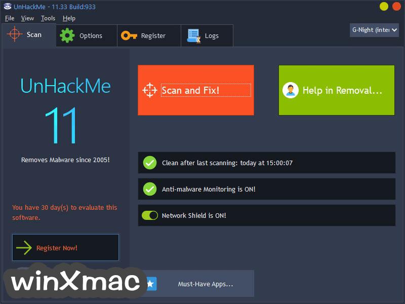 UnHackMe Screenshot 1