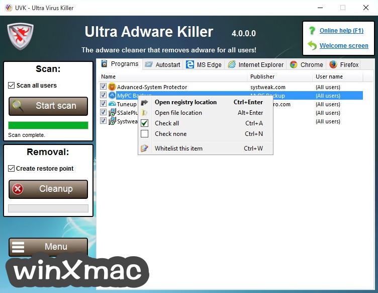 UVK Ultra Virus Killer Screenshot 2