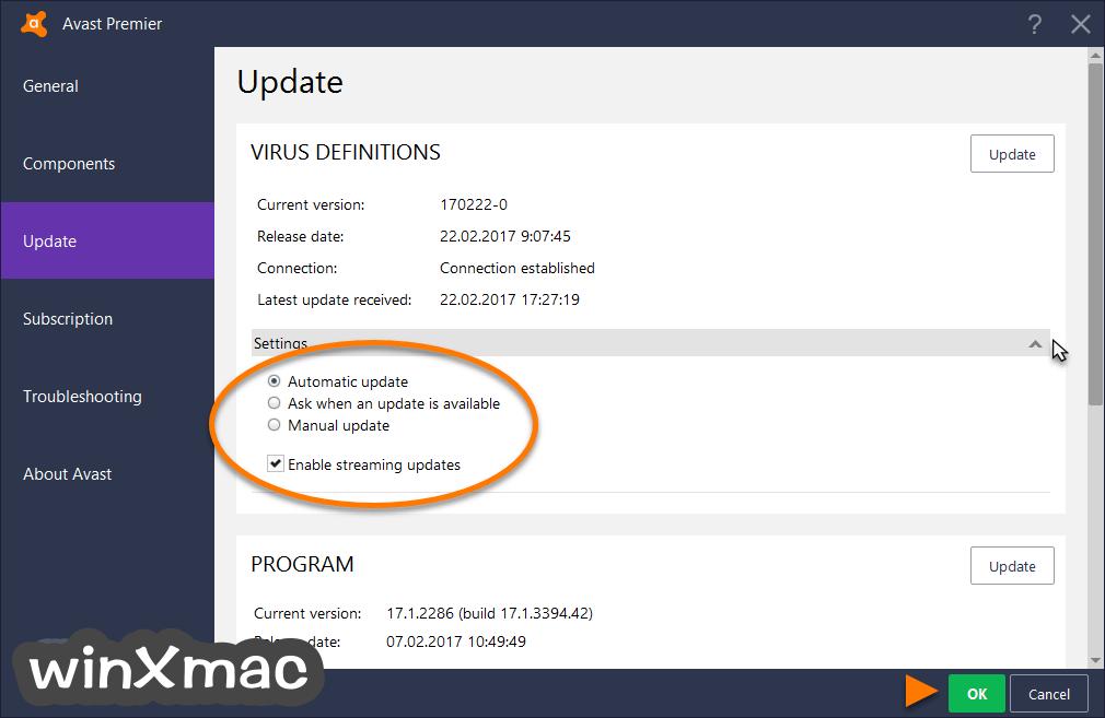 Avast Virus Definitions Screenshot 3