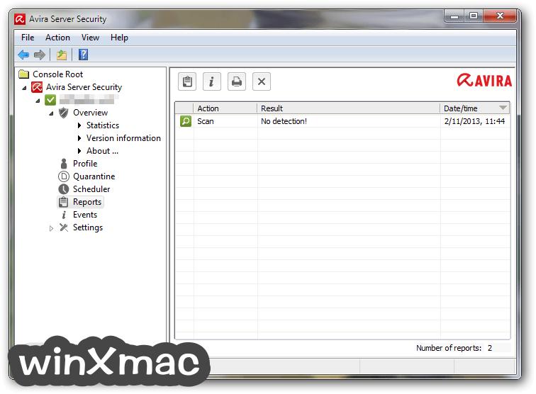 Avira Server Security Screenshot 4