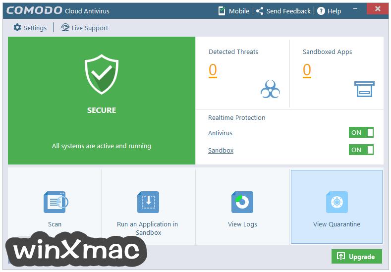 Comodo Cloud Antivirus Screenshot 1