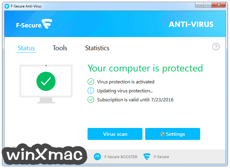 F-Secure Antivirus Screenshot 1