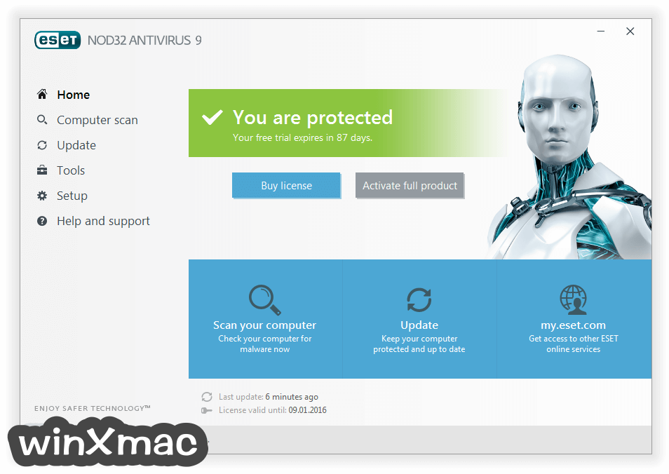 ESET NOD32 Antivirus (64-bit) Screenshot 1