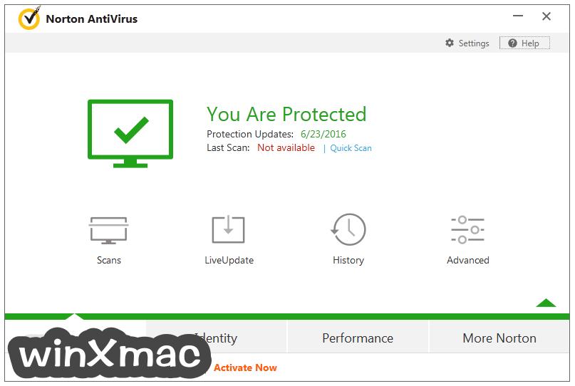 Norton AntiVirus Screenshot 1
