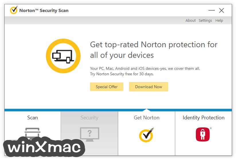 Norton Security Scan Screenshot 3