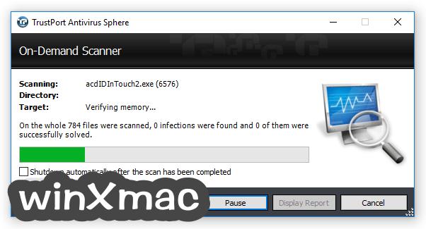 TrustPort Antivirus USB Edition Screenshot 1