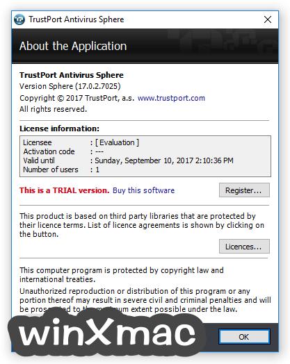 TrustPort Antivirus USB Edition Screenshot 2