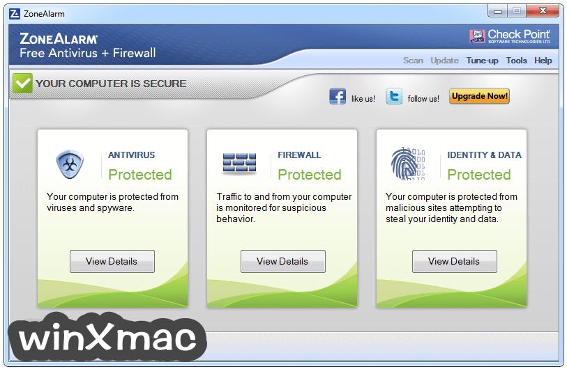 ZoneAlarm Free Antivirus Screenshot 1