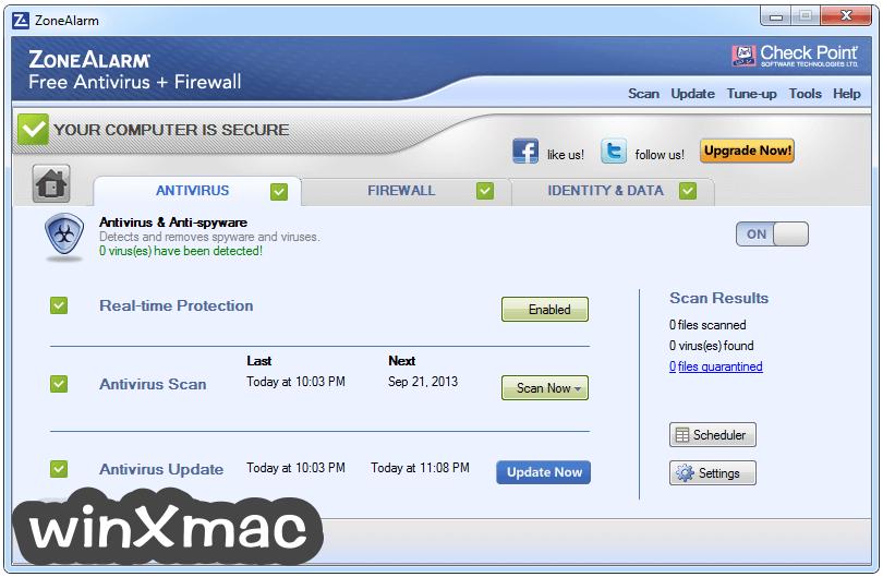 ZoneAlarm Free Antivirus Screenshot 2