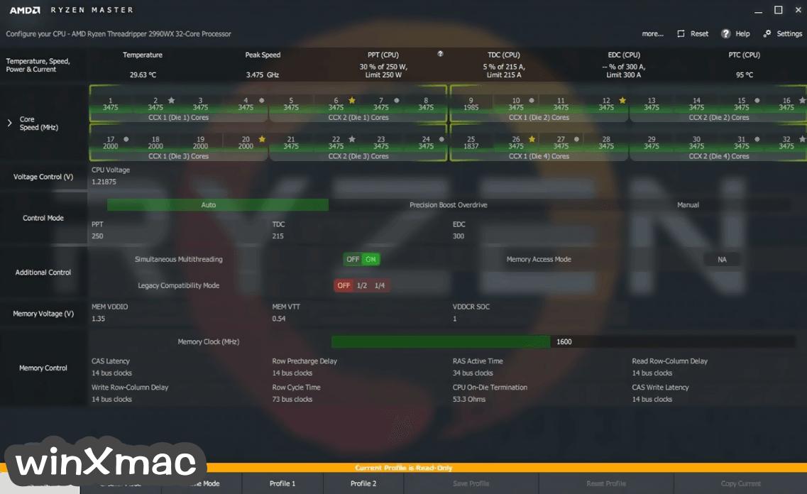 AMD Ryzen Master Screenshot 1
