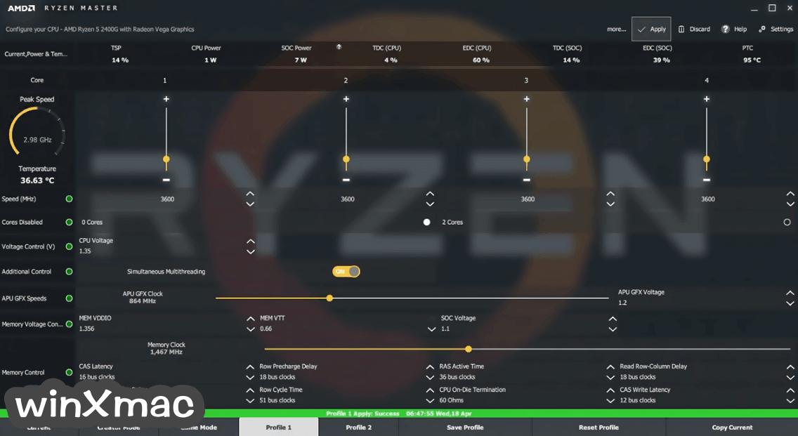 AMD Ryzen Master Screenshot 2