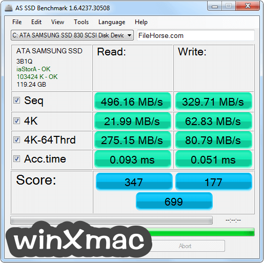 AS SSD Benchmark Screenshot 1