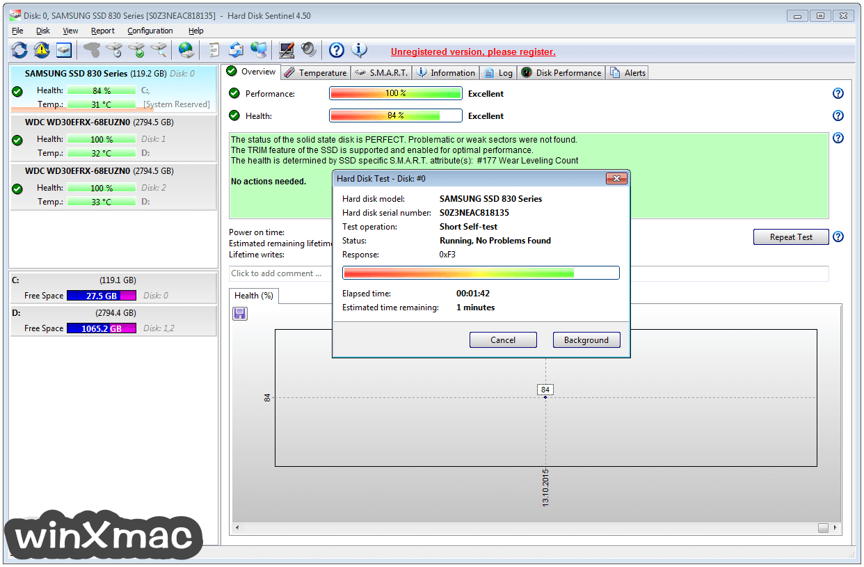Hard Disk Sentinel Screenshot 1