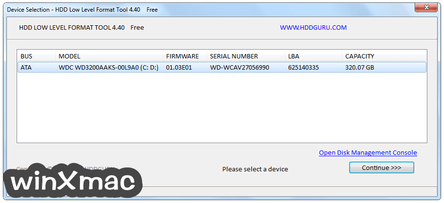HDD Low Level Format Tool Screenshot 1