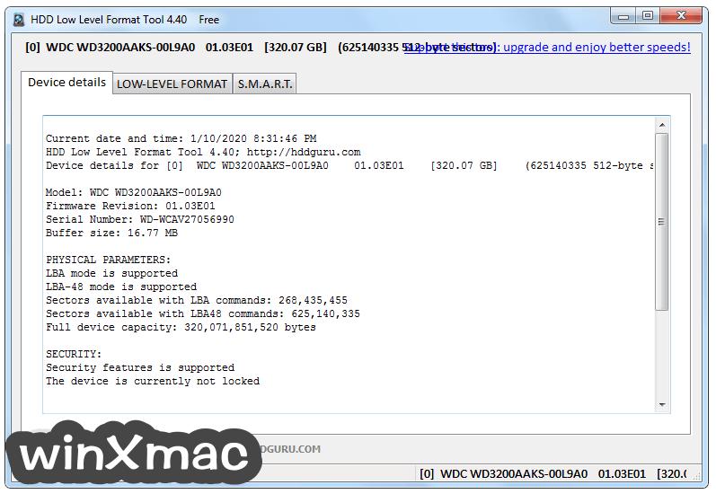 HDD Low Level Format Tool Screenshot 2