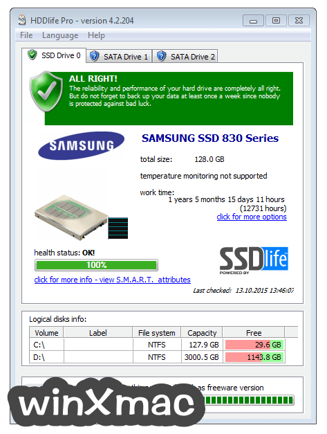 HDDLife Pro Screenshot 1