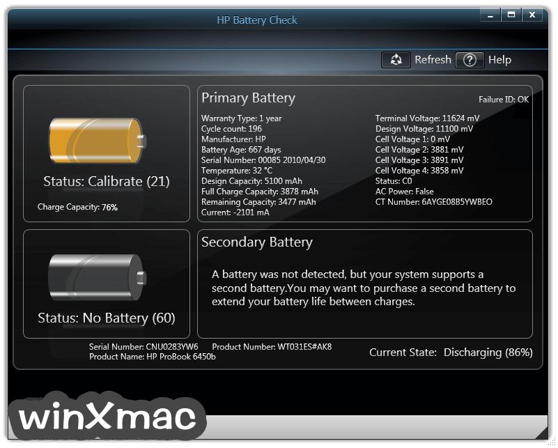 HP Battery Check Screenshot 2