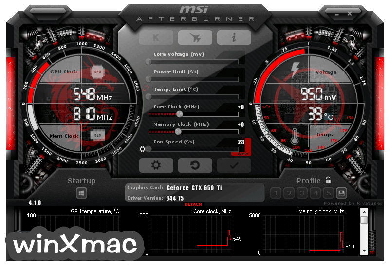 MSI Afterburner Screenshot 1