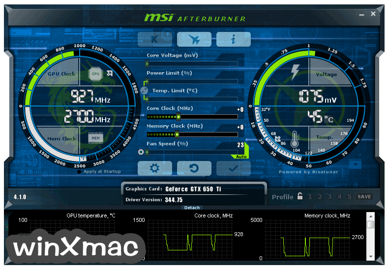 MSI Afterburner Screenshot 2