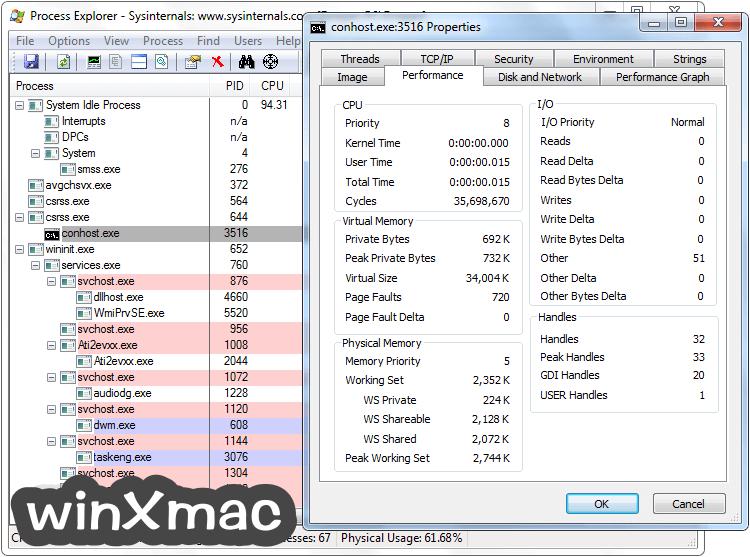 Process Explorer Screenshot 4