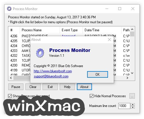 Process Monitor Screenshot 3