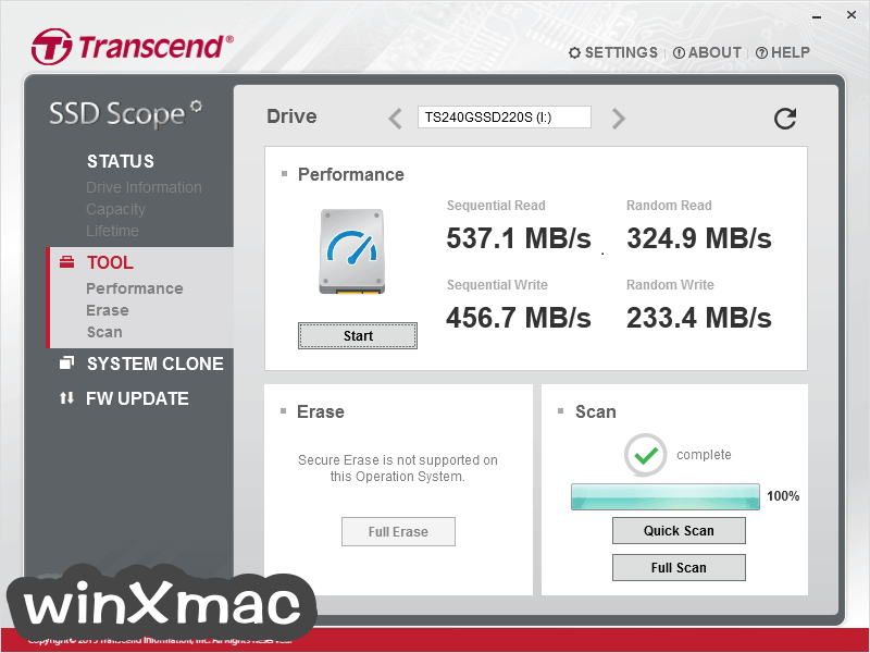 Transcend SSD Scope Screenshot 2