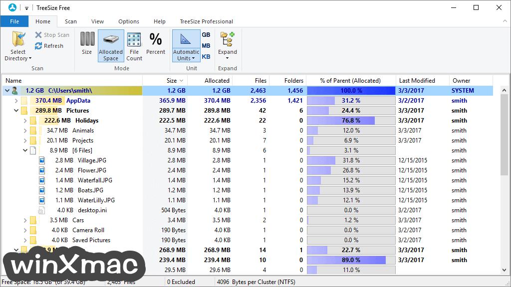 TreeSize Free Screenshot 2