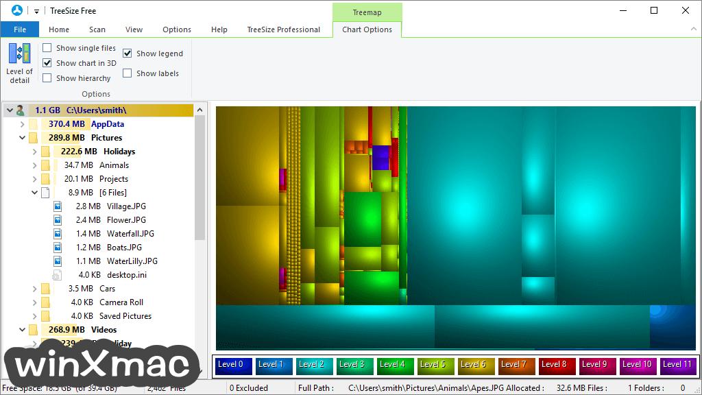 TreeSize Free Screenshot 3