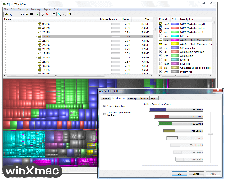 WinDirStat Screenshot 3