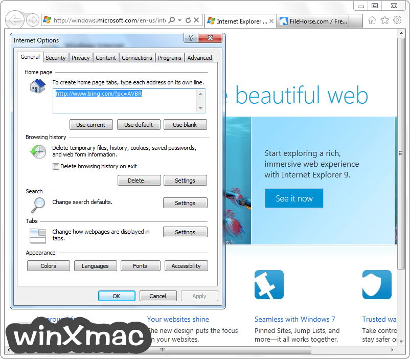 Internet Explorer (Windows7) Screenshot 5