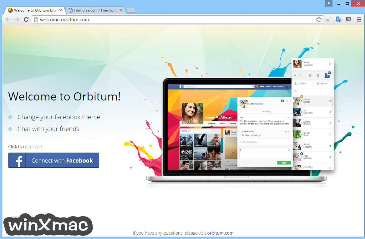 Orbitum Browser Screenshot 1