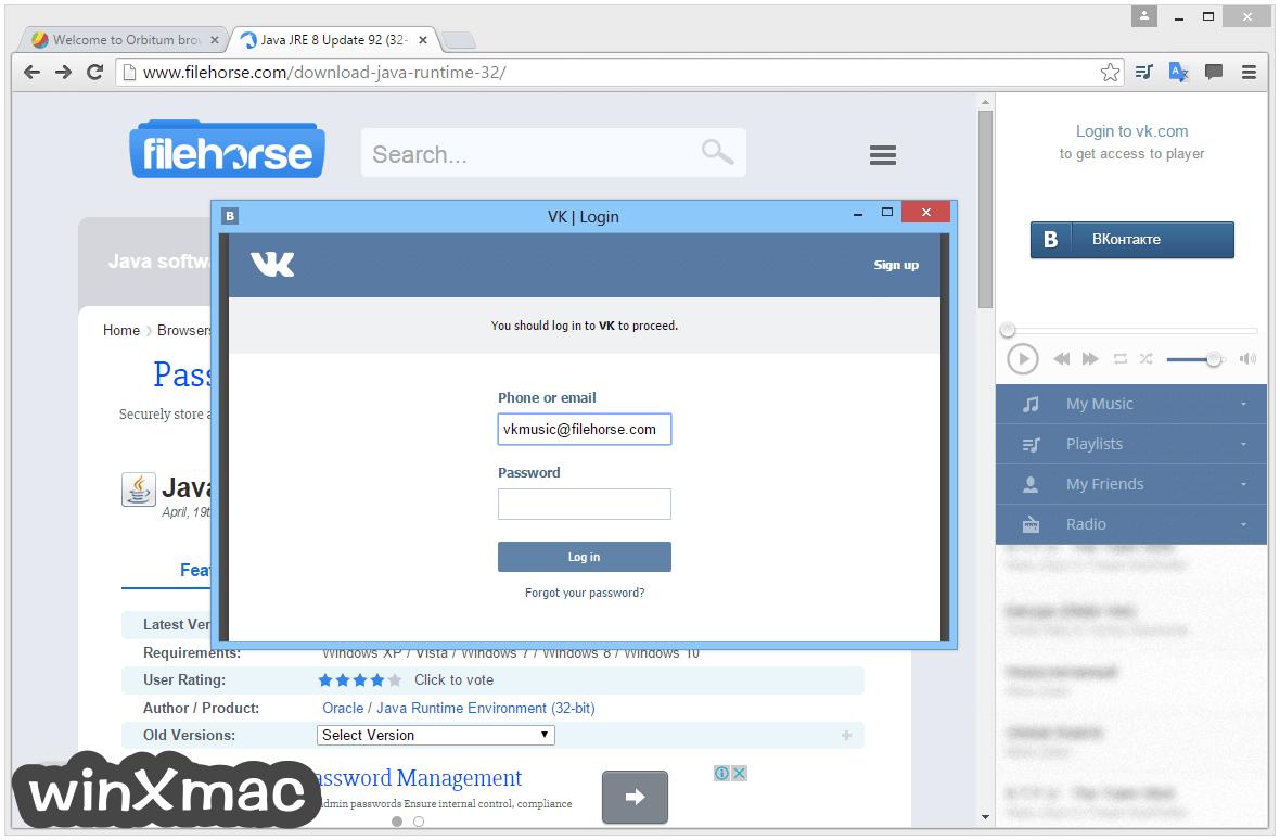 Orbitum Browser Screenshot 4