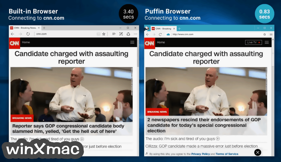 Puffin Browser Screenshot 1