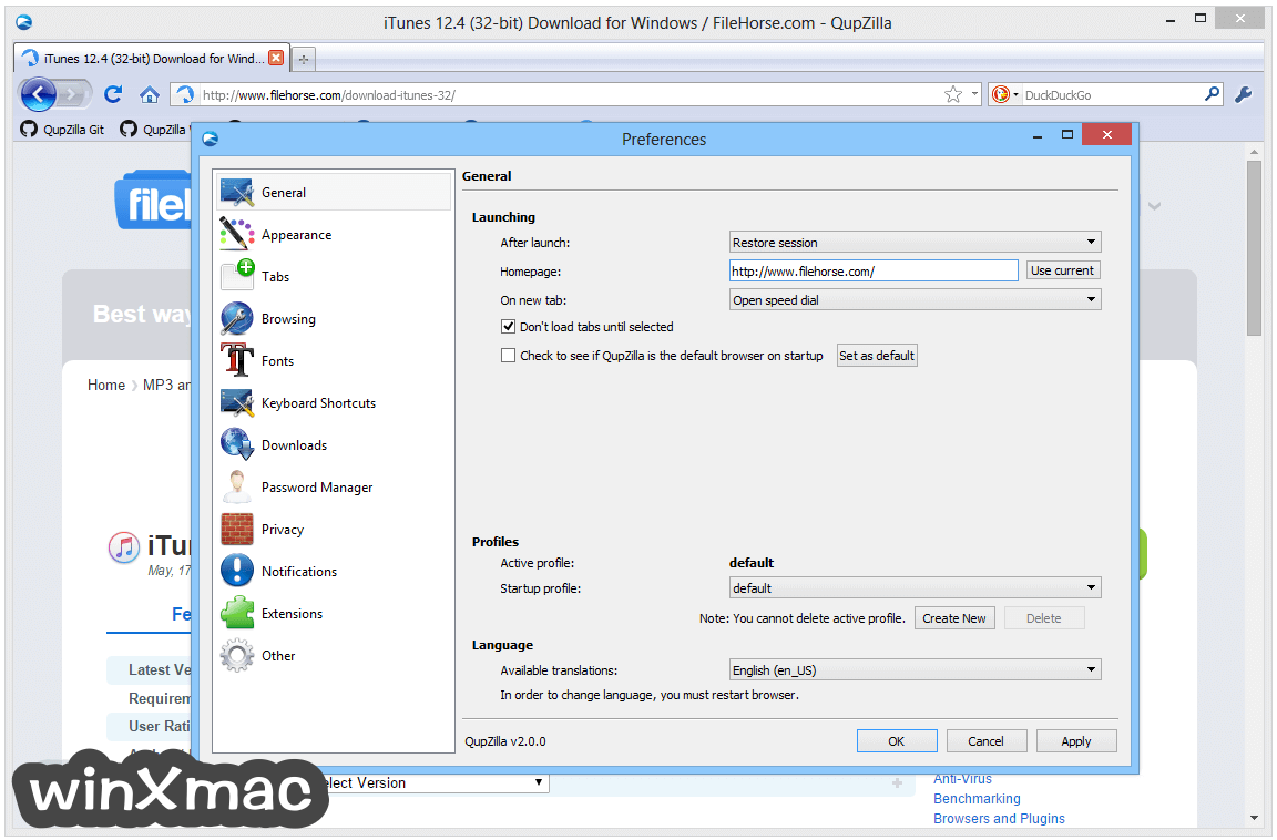 QupZilla Browser Screenshot 5