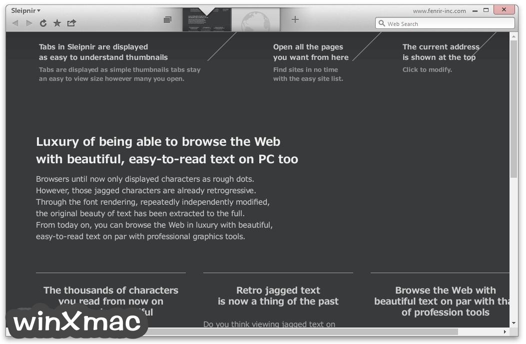 Sleipnir Browser Screenshot 2