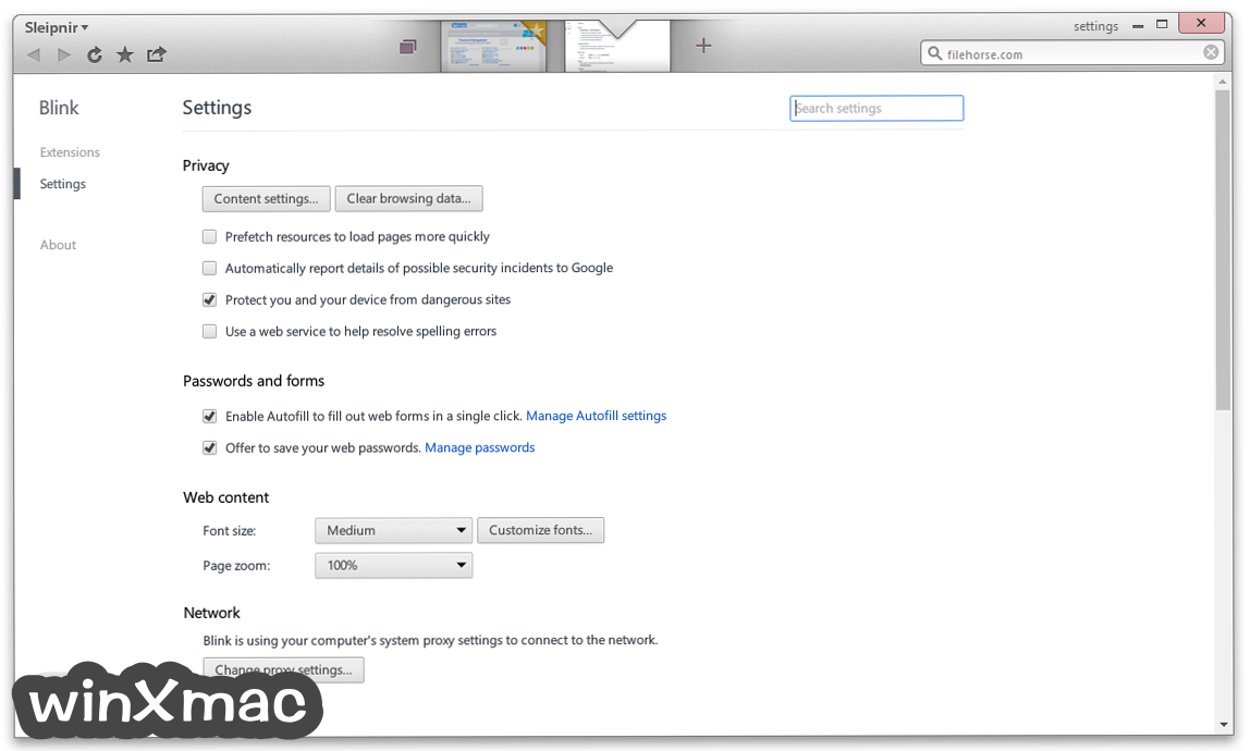 Sleipnir Browser Screenshot 5