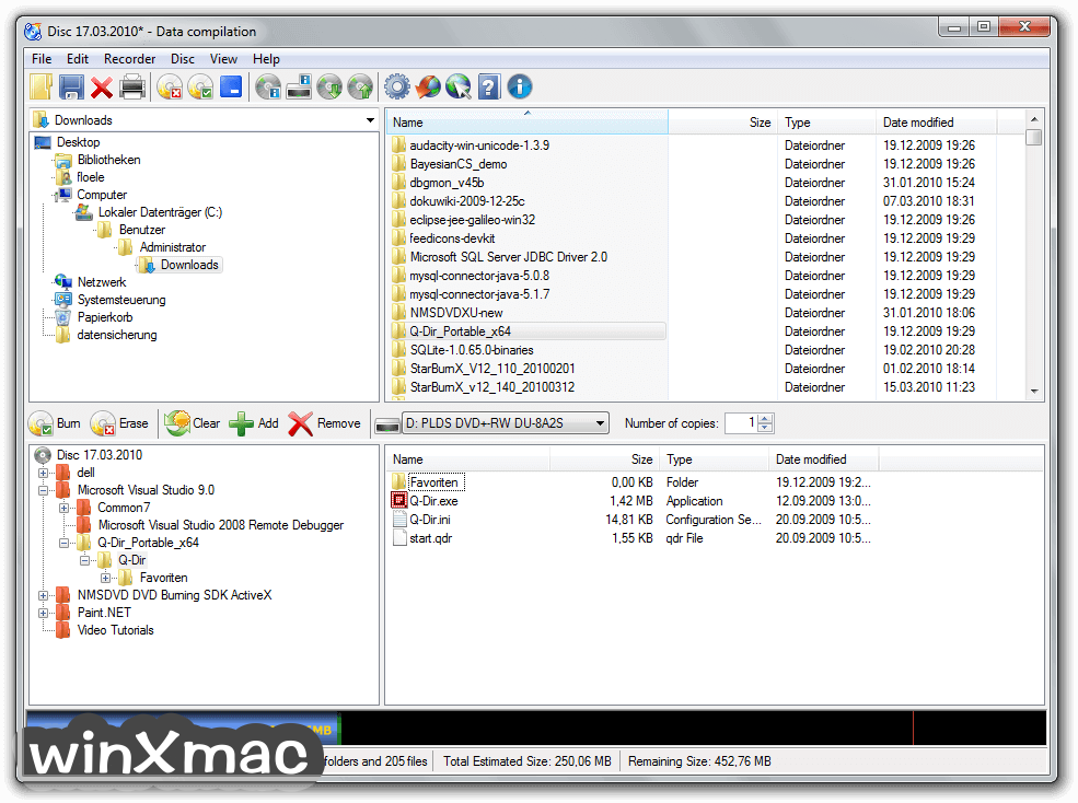 CDBurnerXP (64-bit) Screenshot 1