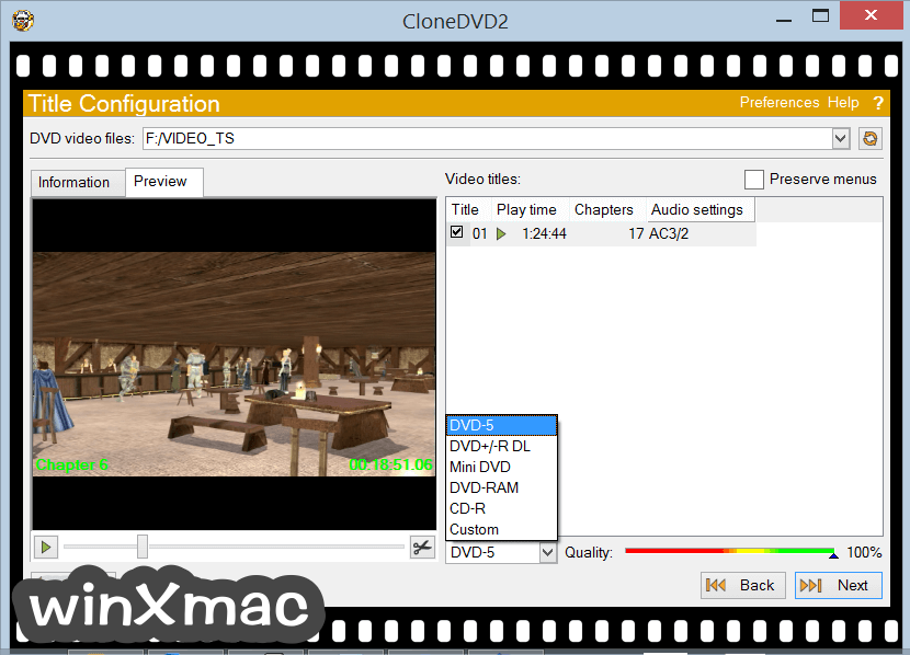 CloneDVD Screenshot 2