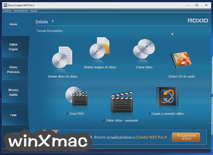 Roxio Creator NXT Pro Screenshot 1