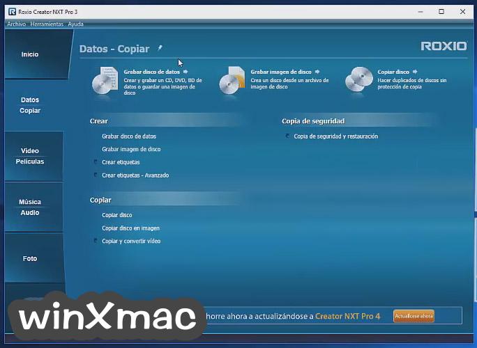 Roxio Creator NXT Pro Screenshot 2