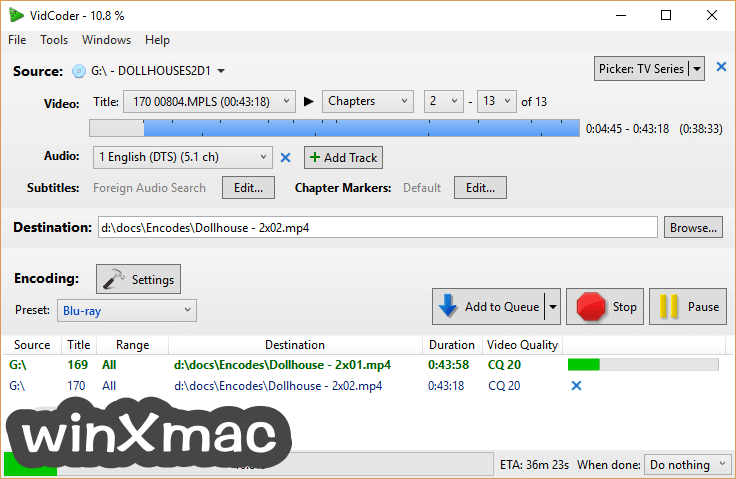 VidCoder (64-bit) Screenshot 1