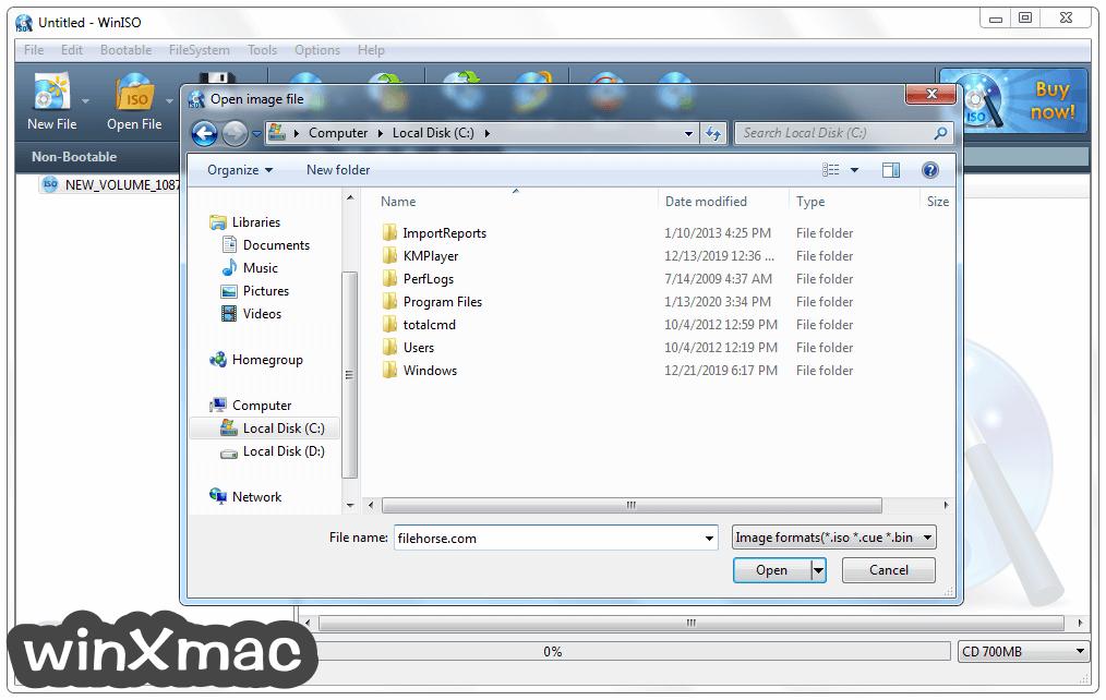 WinISO Screenshot 2