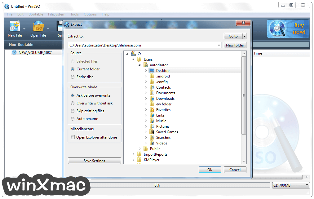 WinISO Screenshot 3